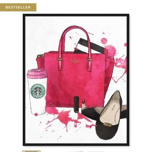 Bag Shoes and Coffee Oliver Gal Painting